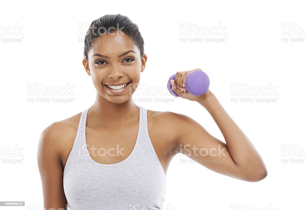 In good shape and feeling great! royalty-free stock photo