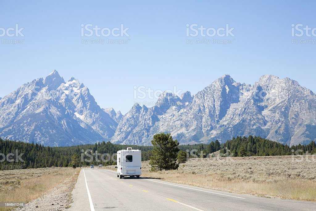 RV In Grand Teton National Park royalty-free stock photo