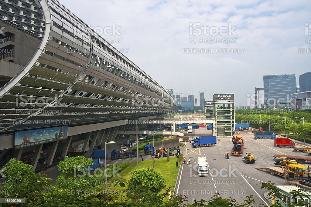 CHINA IMPORT AND EXPORT FAIR COMPLEX in Guangzhou stock photo
