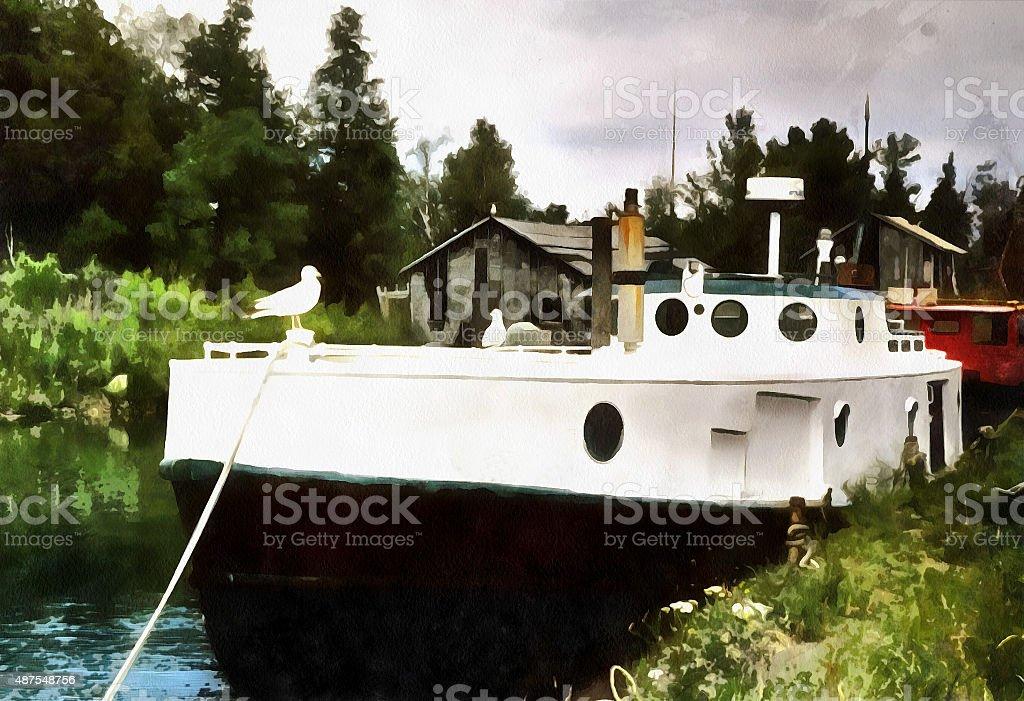 In harbor stock photo