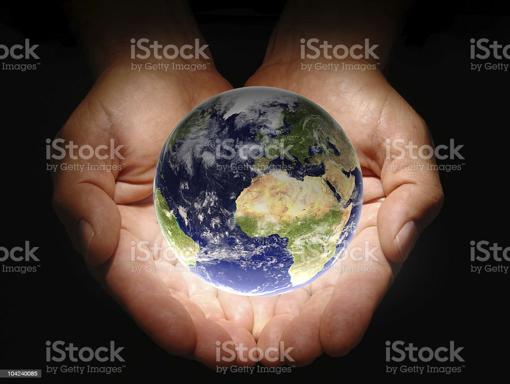 In His Hands royalty-free stock photo