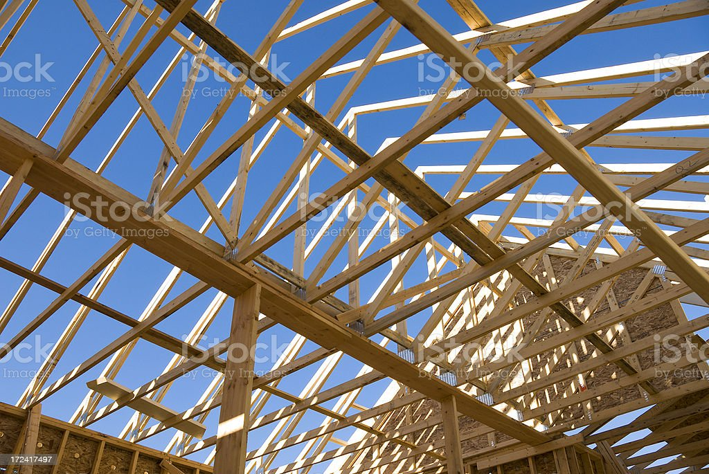 In House We Truss stock photo