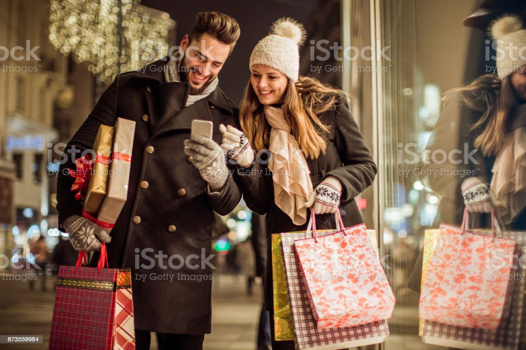 In hunt for perfect gifts stock photo