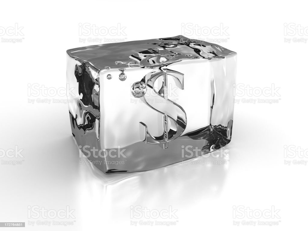 $ in Ice Cube stock photo