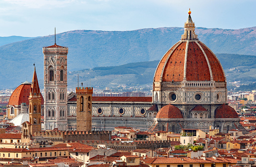 FLORENCE in Italy with the great dome of the Cathedral