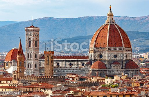 FLORENCE in Italy with the great dome of the Cathedral called Duomo di Firenze