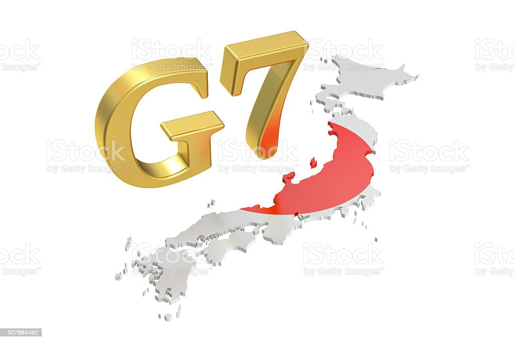 G7 in Japan, concept, 3D rendering stock photo
