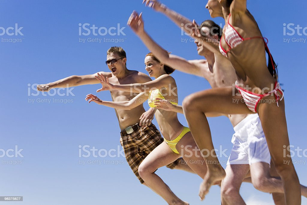 In jump royalty-free stock photo