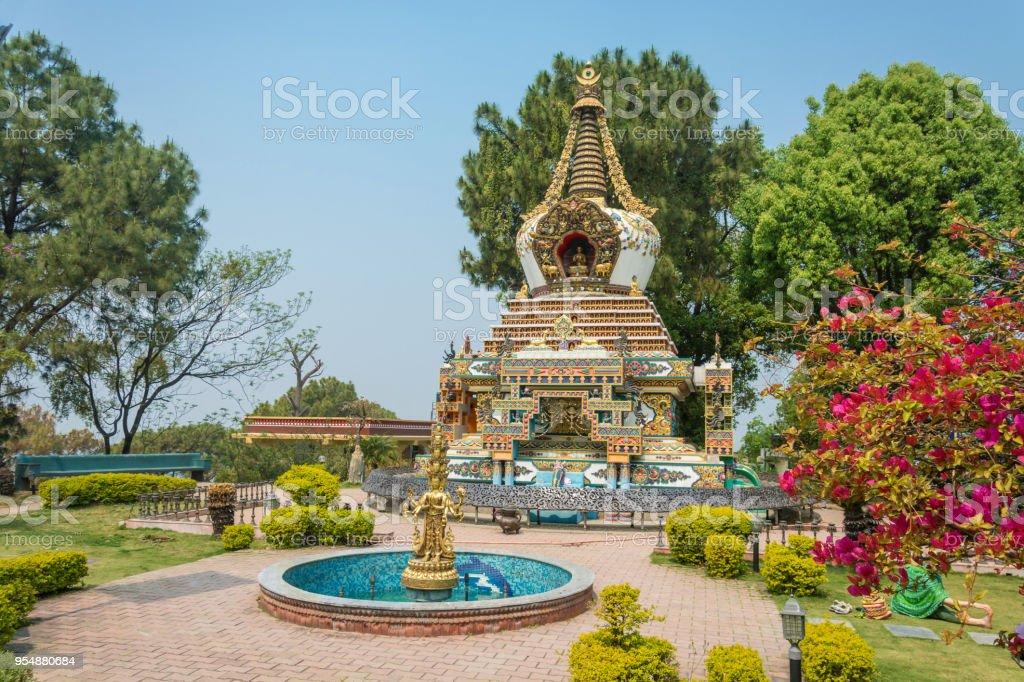 In Kopan monastery Park, Kathmandu, Nepal. стоковое фото