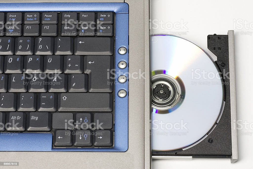 CD in Laptop royalty-free stock photo