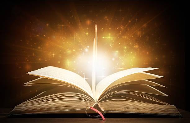 In light of the book - foto de acervo