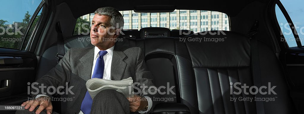 CEO in Limousine stock photo