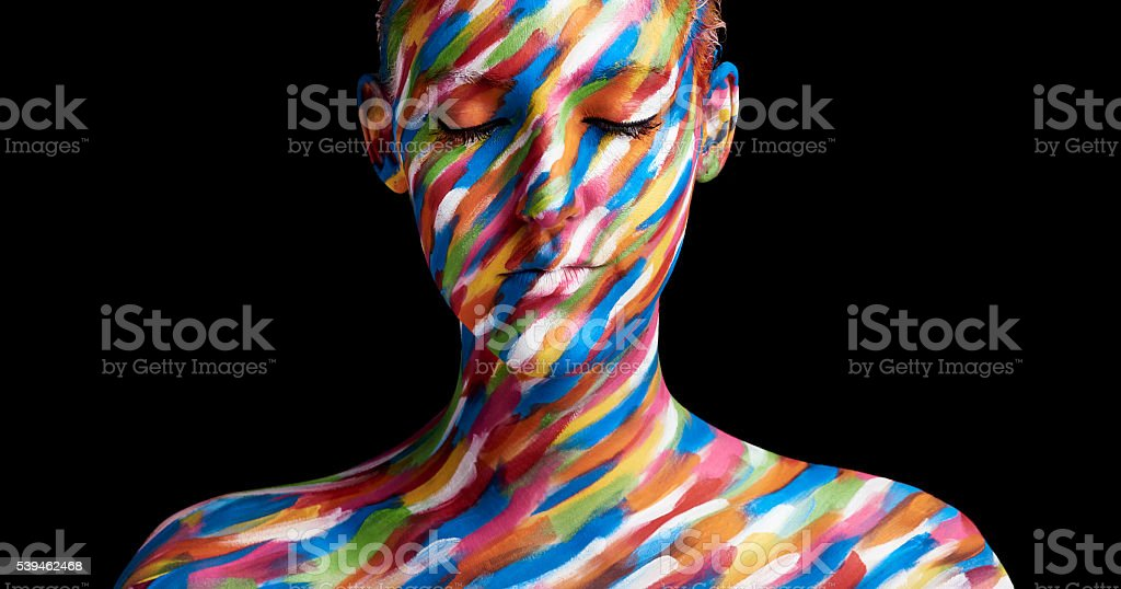 In living colour stock photo