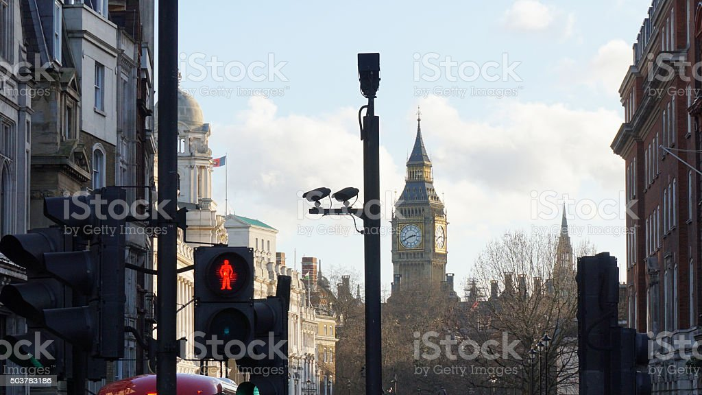CCTV in London stock photo