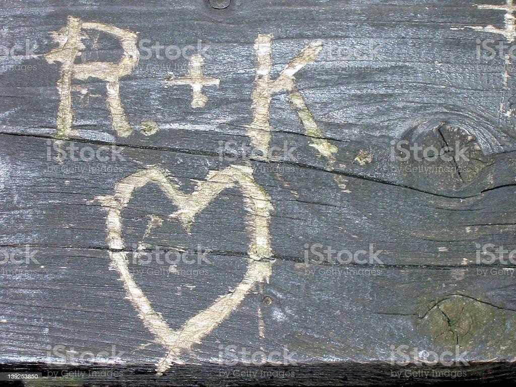 R+K in Love stock photo