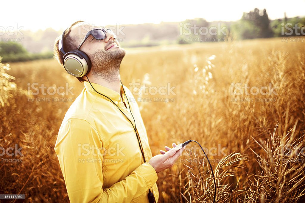 In love with music royalty-free stock photo