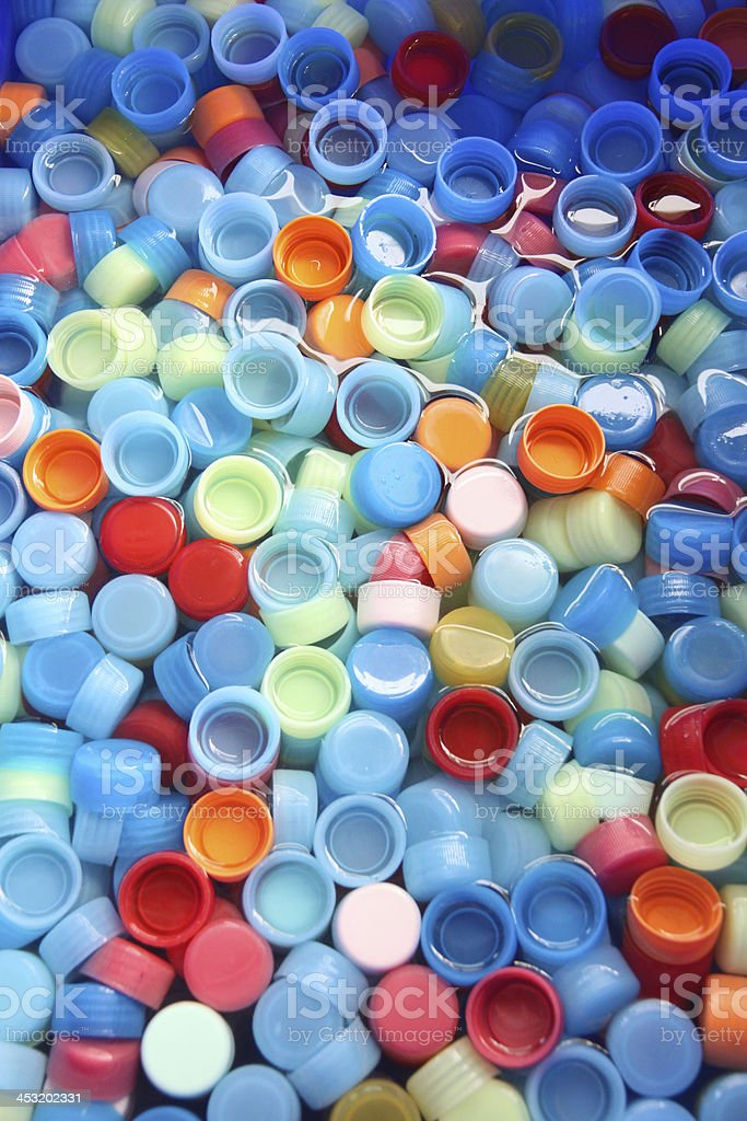 In many colors bottle caps. royalty-free stock photo