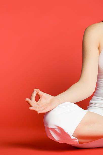 in Meditation stock photo