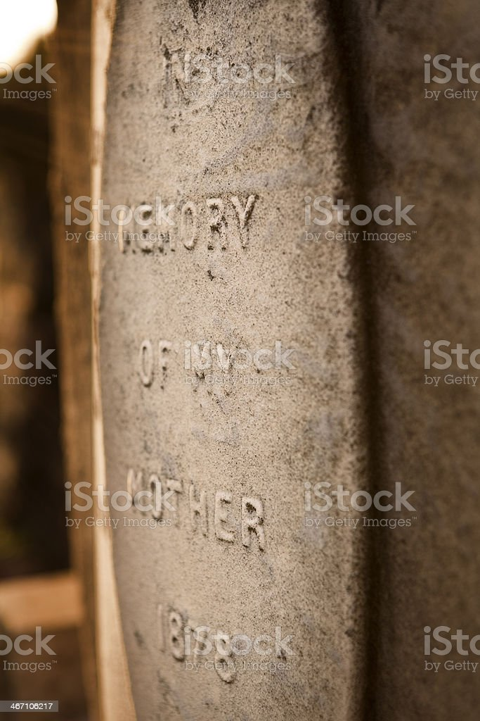 In Memory Of My Mother royalty-free stock photo