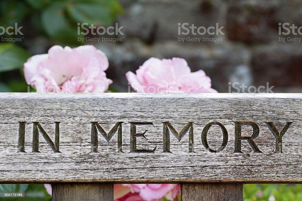 In Memory stock photo