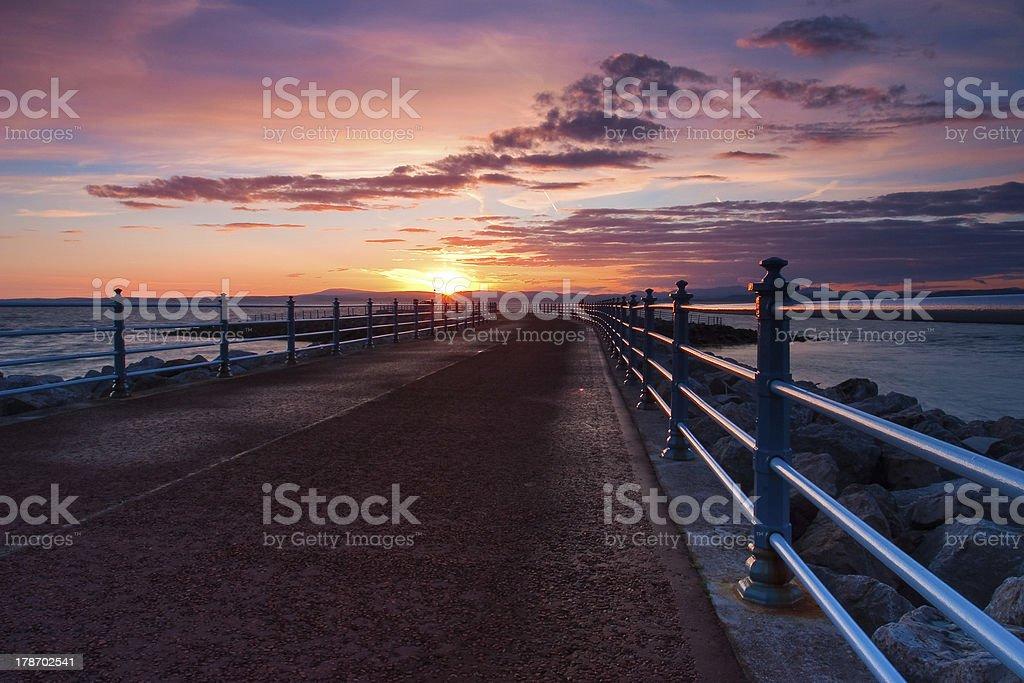 In Morecambe Bay stock photo