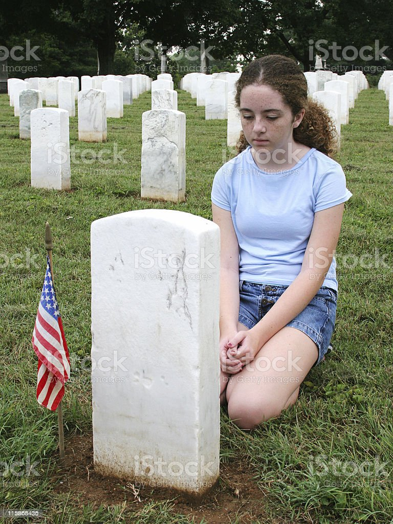 In Mourning royalty-free stock photo