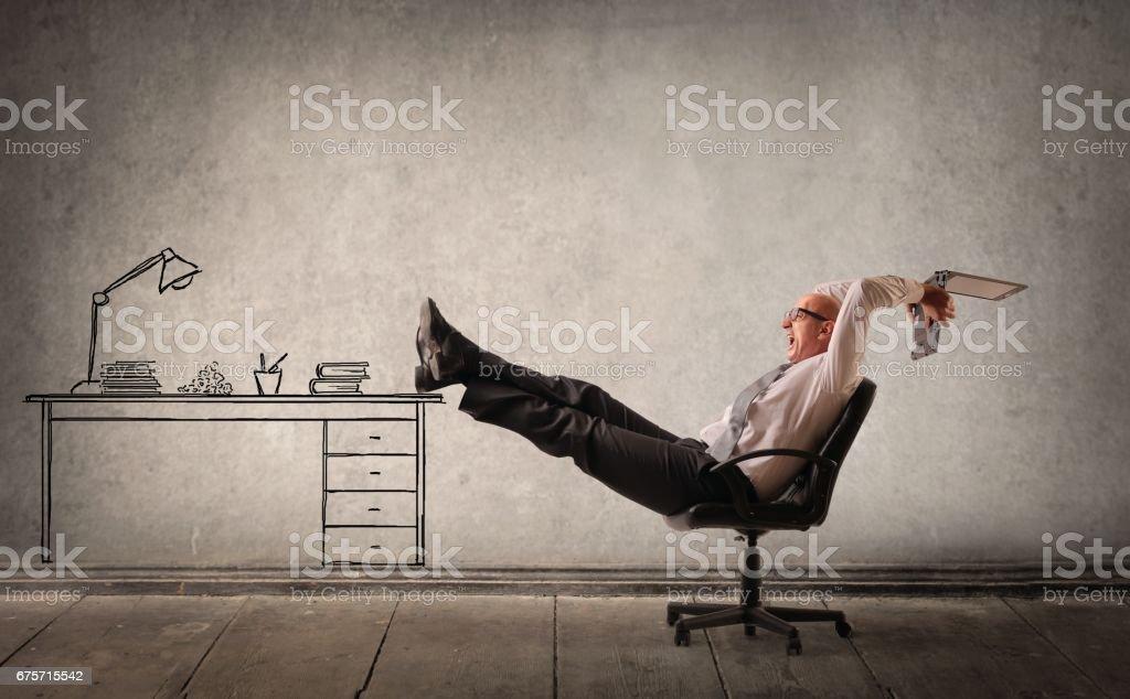 在我的夢想辦公室 免版稅 stock photo
