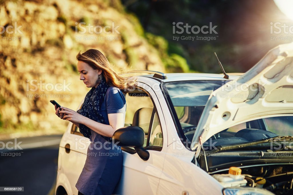 In need of some roadside assistance stock photo