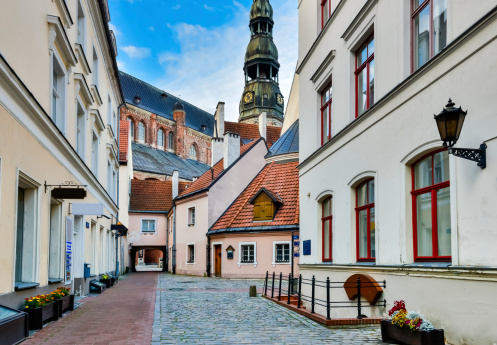 In old town of Riga, Latvia, Europe