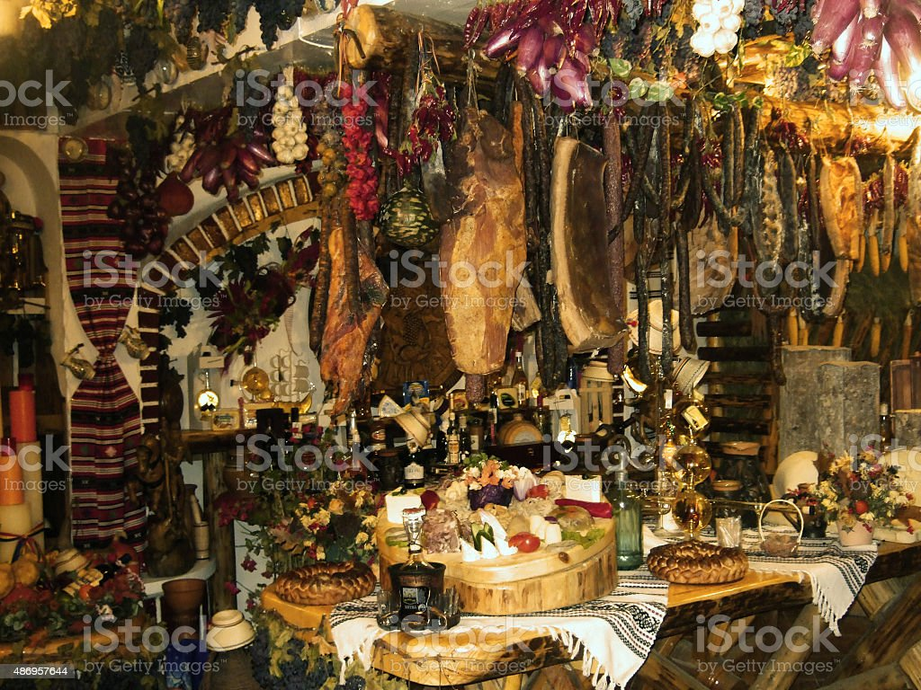 in one Romanian cellar stock photo