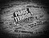 istock TERROR in Paris Newspaper Headline Collage 497627174