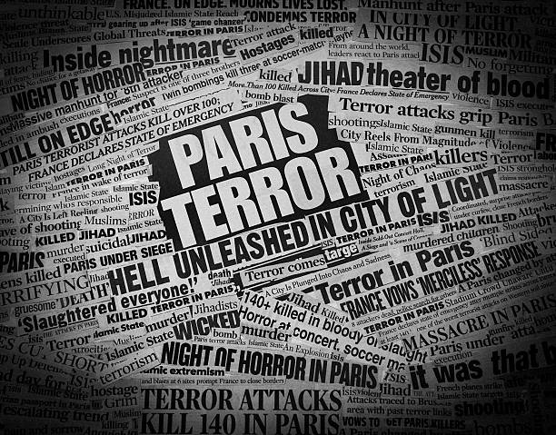 TERROR in Paris Newspaper Headline Collage Please consider my light-box that contains several successful images in the