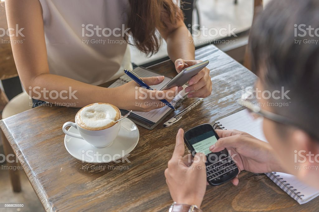 In positive way smartphone makes human life more convenient stock photo