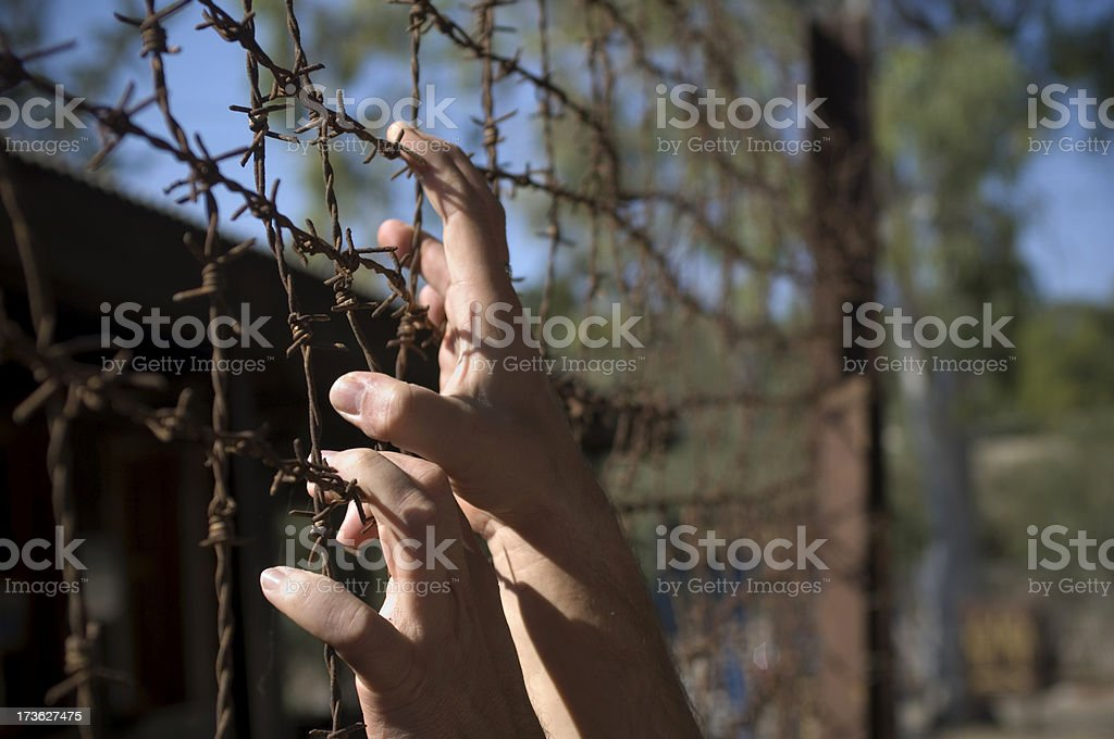 In prison royalty-free stock photo