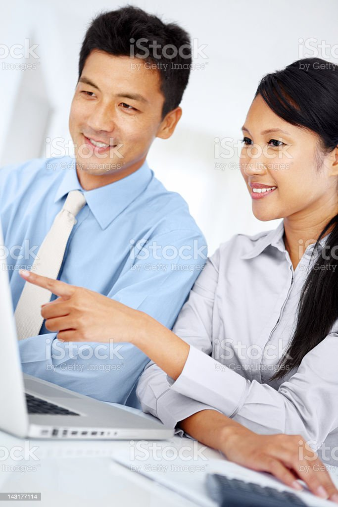In pursuit of corporate perfection - Collaboration royalty-free stock photo