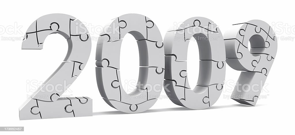 3D 2009 in Puzzle royalty-free stock photo