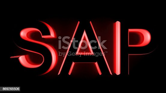 istock SAP in red backlight - 3D rendering 869265506