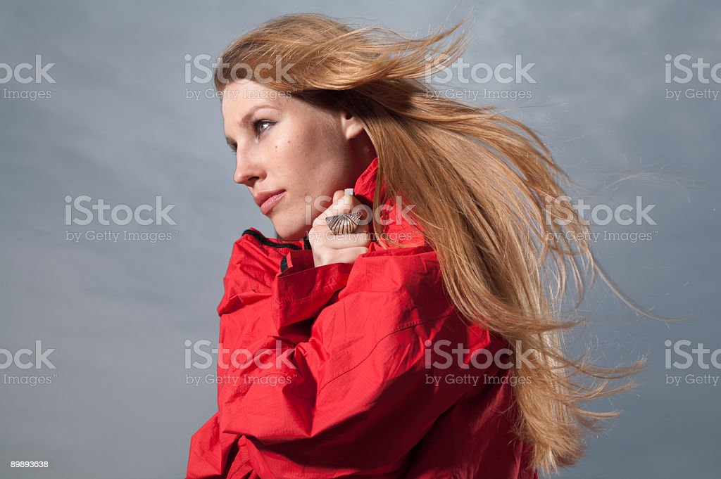 In Red Jacket royalty-free stock photo