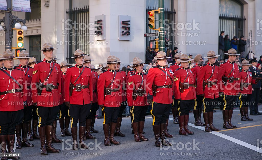 RCMP in Red Serge stock photo