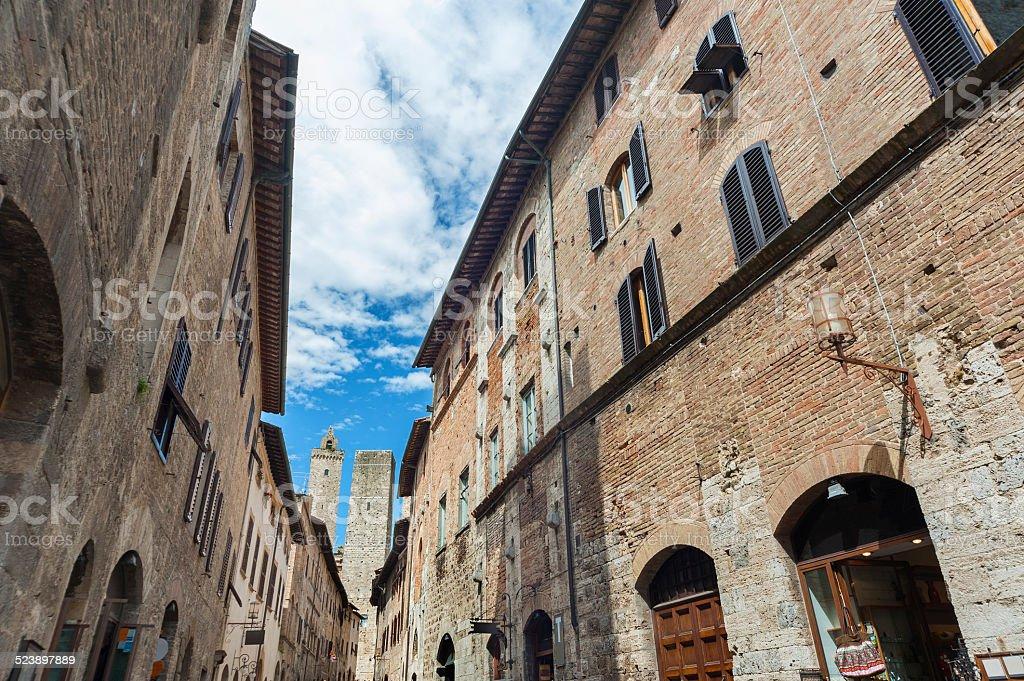 in San Gimignano stock photo