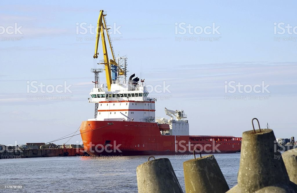 In seaports royalty-free stock photo