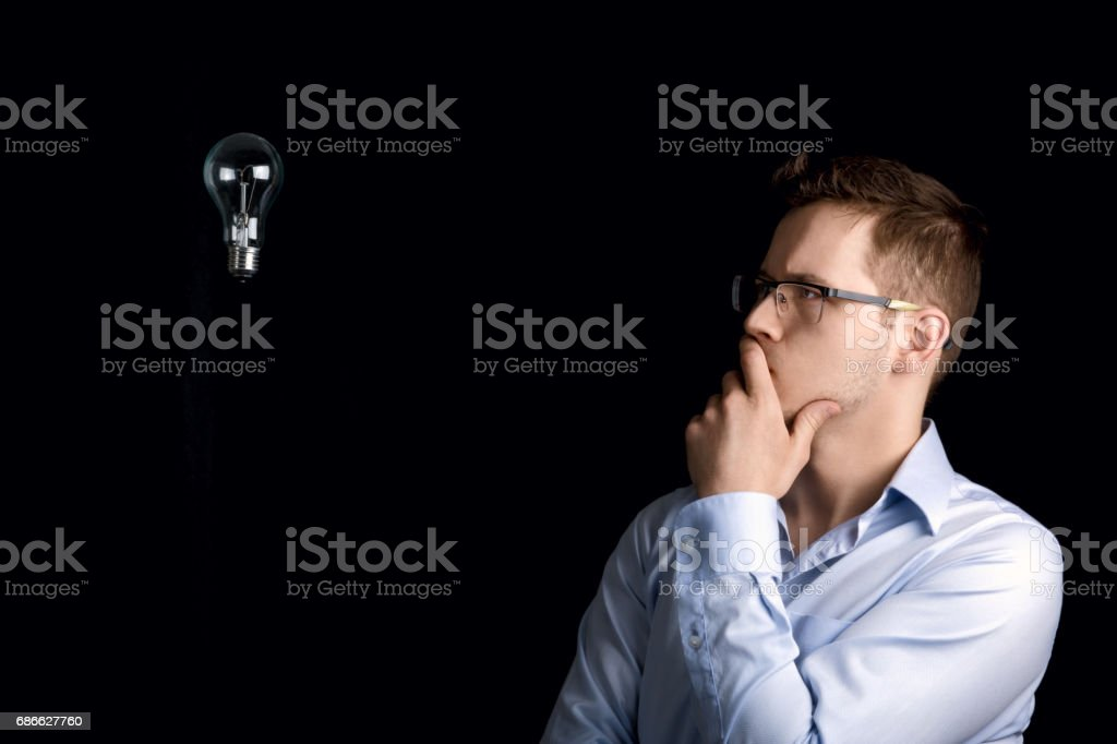 In search of a good idea. royalty-free stock photo