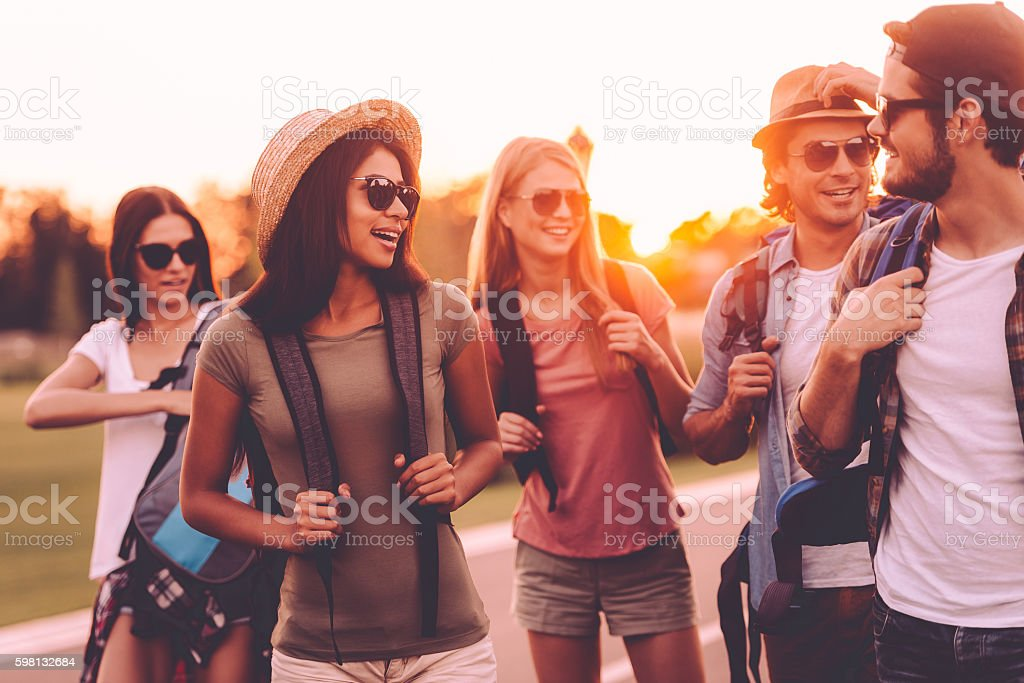 In search of adventures. stock photo