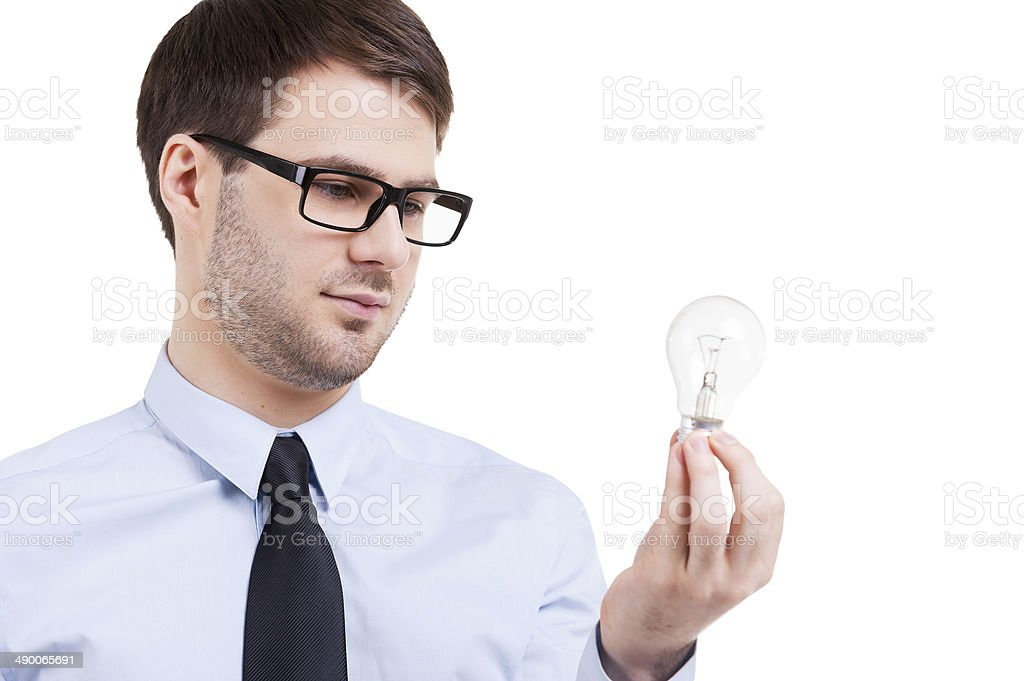 In search of new ideas. stock photo