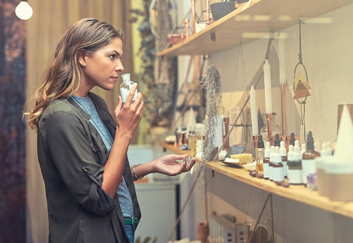 In Search Of The Perfect Scent Stock Photo - Download Image Now