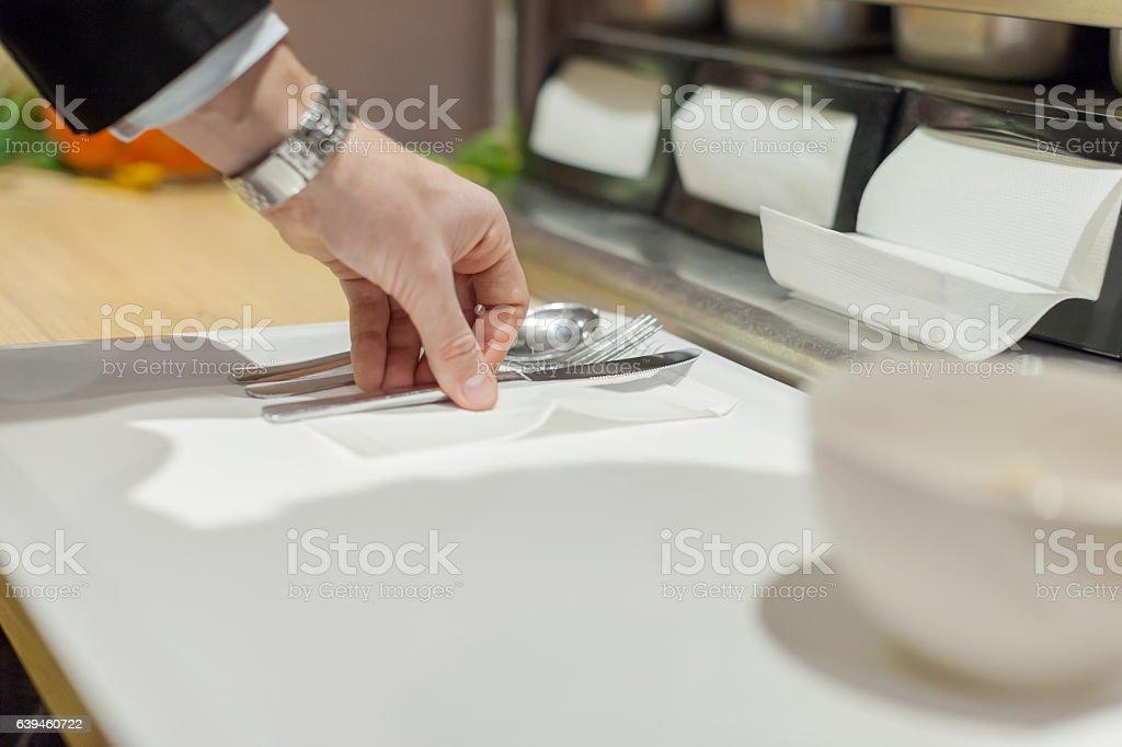 In self service restaurant stock photo