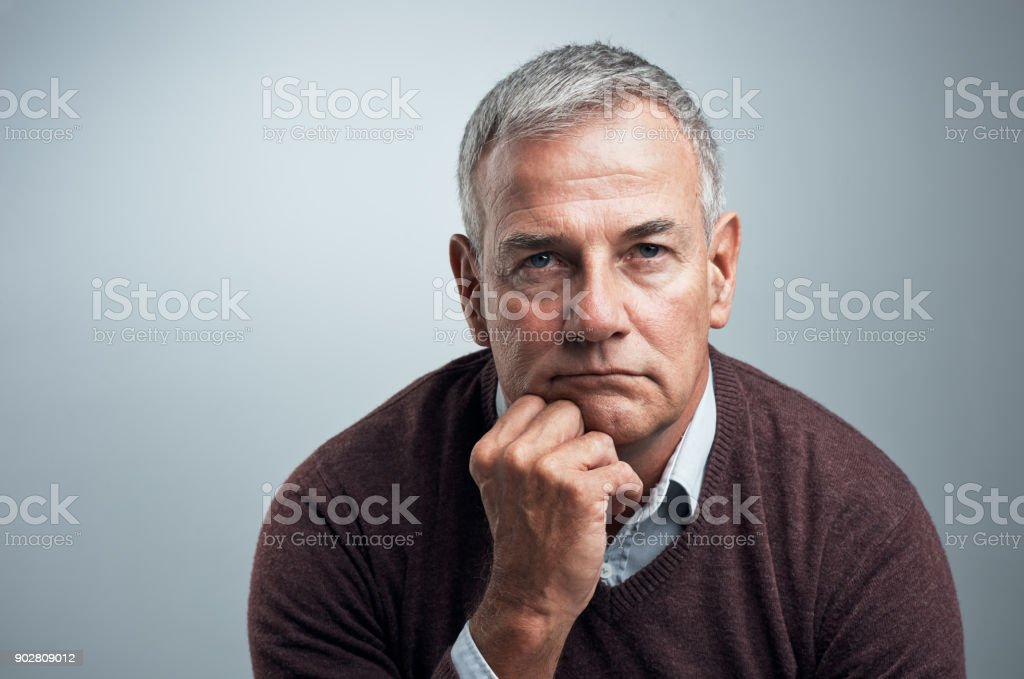 In serious mode stock photo