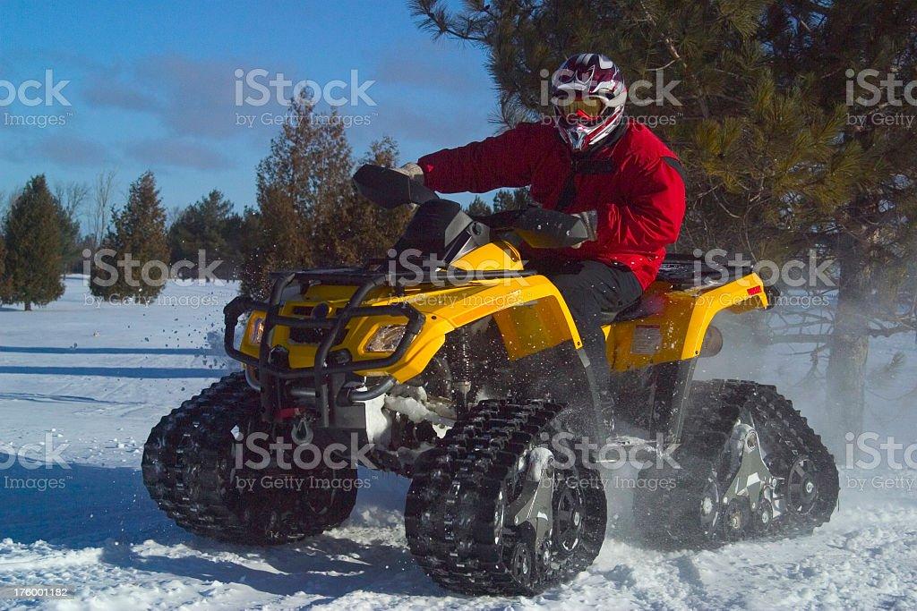 ATV in Snow royalty-free stock photo