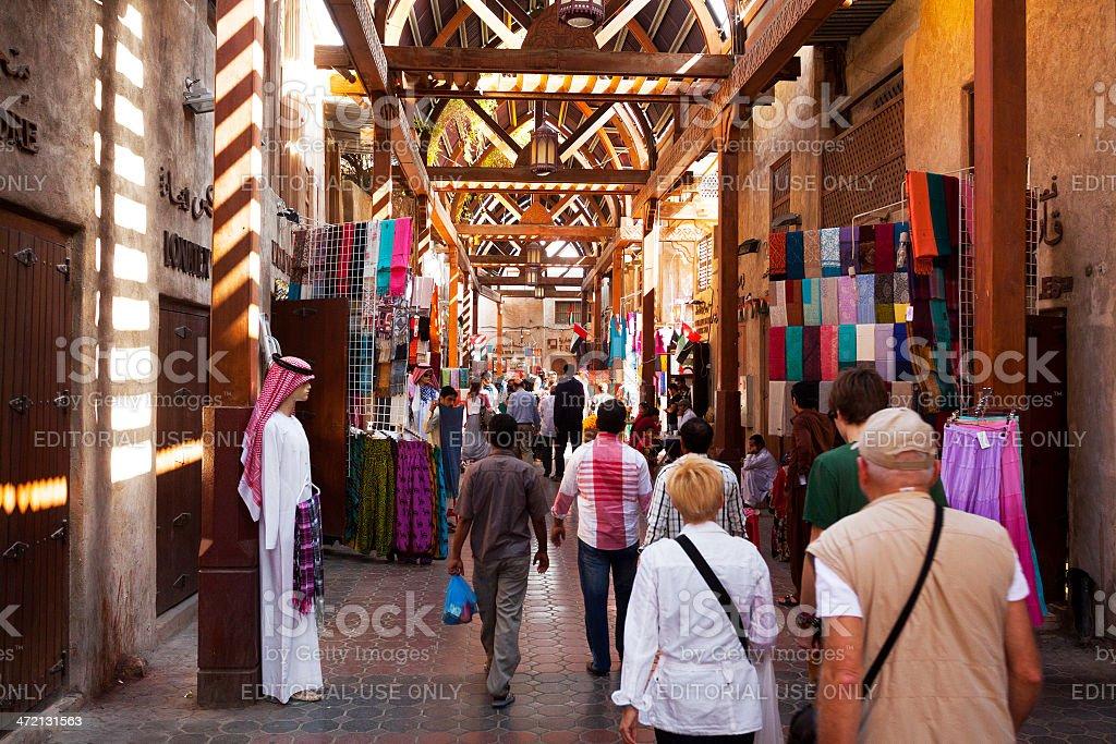 In Souks of Dubai stock photo
