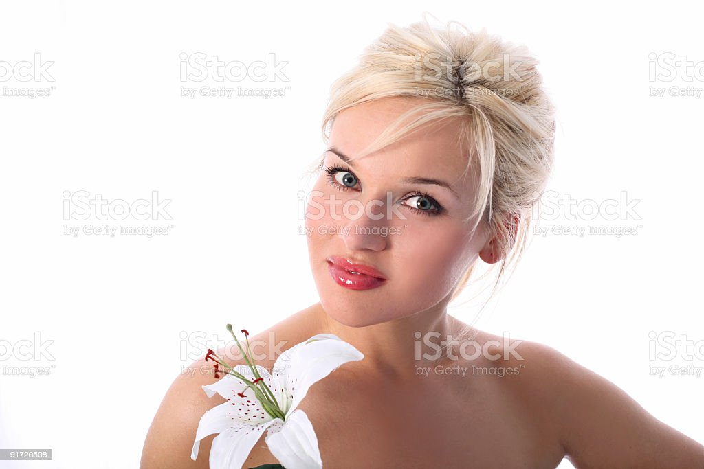 in spa with madonna lily royalty-free stock photo